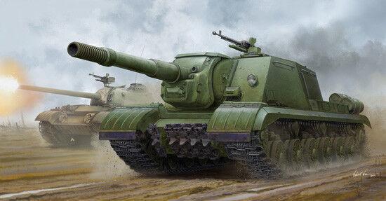 Soviet Jsu-152k Armoruge Self Propelled Gun Tank 1 35 Plastic Model Kit TRUMPETER