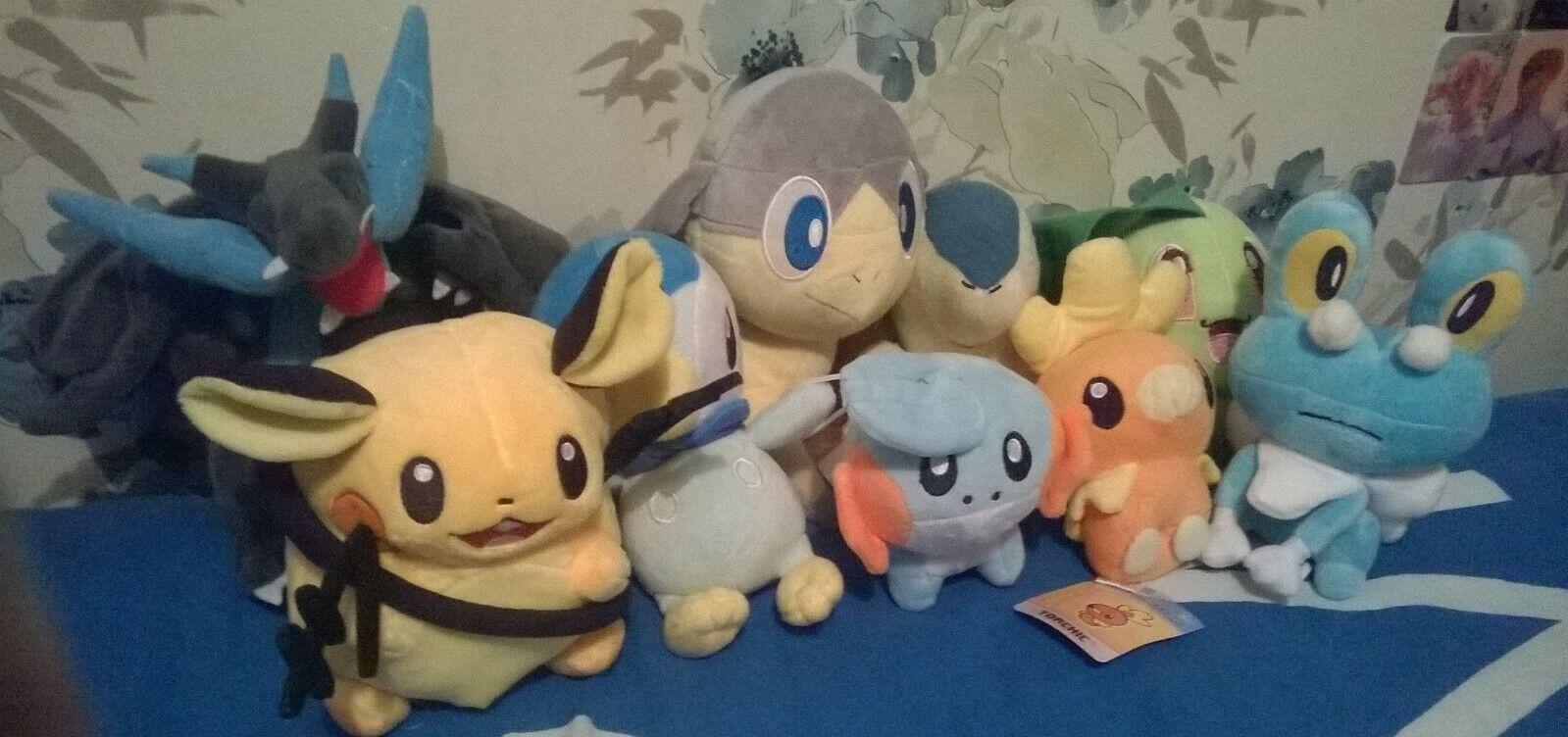 Large Pokemon Stuffed Toy Bundle x9 ( assortSiet will name in description)
