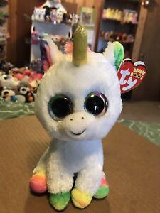 "bad0f90fb9e Ty PIXY -White Rainbow w Gold Horn 6"" Beanie Boo Unicorn  Recalled ..."