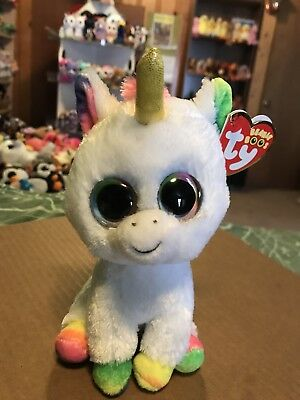 """Ty Beanie Boos PIXY the Unicorn 6/"""" with Horn"""