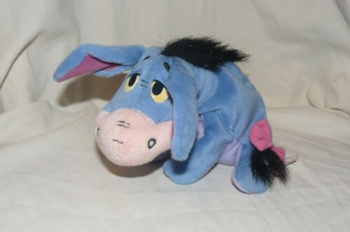 Eeyore Disney Beanbag Plush Stuffed Animal Mattel Velcro Tail Pooh & Friends 7""
