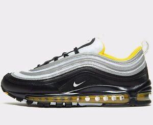 Primer ministro Adiós America  🔥 2020 Nike Air Max 97 ® Original (MEN SIZE UK 7 EUR 41) Negro, Blanco  Amarillo | eBay