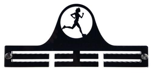 Woman Runner Running Athletics Marathon Display Acrylic Medal Holder Hanger