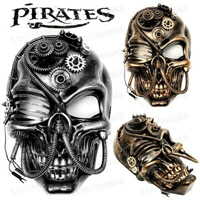 Steampunk Pirates Skull Mask Cosplay Halloween Costume Party Masquerade Mask