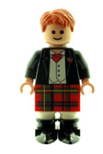Custom Designed Minifigure - Scottish Groom Best Man - Printed on LEGO Parts