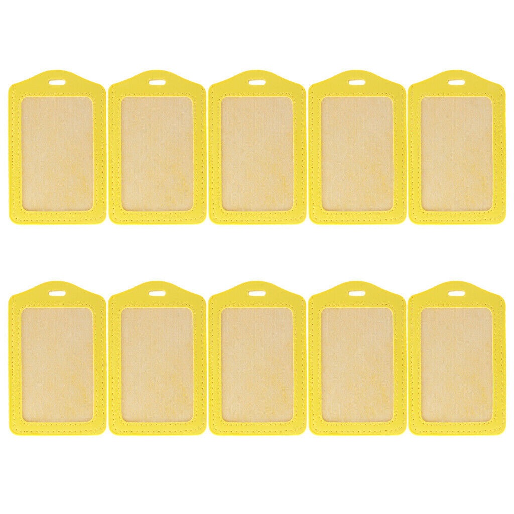 10X Doctor Work Permit Card Holder 10 Color Vertical ID Holder Office Supply
