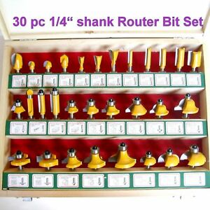 30-pc-1-4-034-Shank-Carbide-tipped-Router-Bit-Set-S