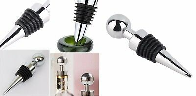Wine Bottle Stoppers Decorative Chrome heavy duty Chrome plated steel