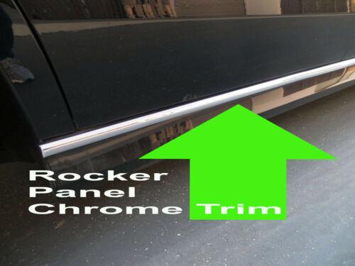 FOR JEEP 2002-2018 ROCKER PANEL Body Side Molding CHROME Trim 2pc