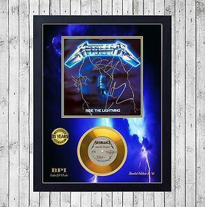 METALLICA-RIDE-LIGHTNING-CUADRO-CON-GOLD-O-PLATINUM-CD-EDICION-LIMITADA-FRAMED