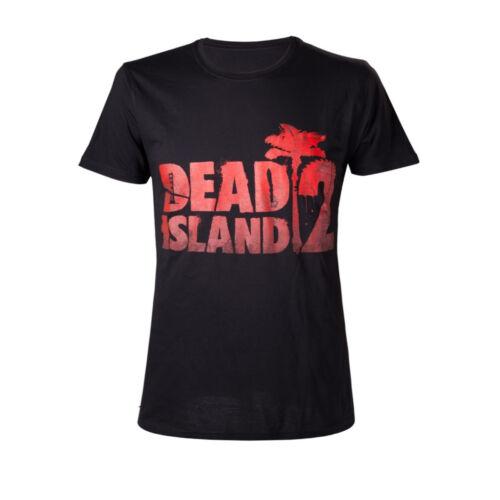 Licenza Ufficiale Dead Island RED Palm Zombie Gamer Nero Maglietta a maniche corte