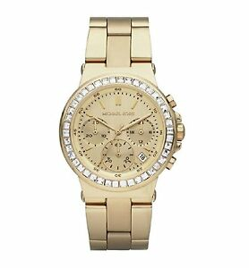 9e336ced5e99 Image is loading Michael-Kors-Ladies-Gold-Tone-Crystals-Mini-Dylan-