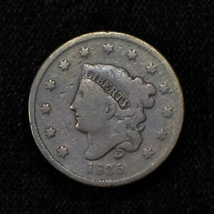 1835 CORONET HEAD LARGE CENT ANACS VG 8 N-15 | eBay