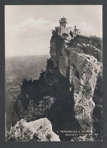 Repubblica-San-Marino-ca-1930-Real-Photo-post-card-by-Savoretti-stamps-on-back