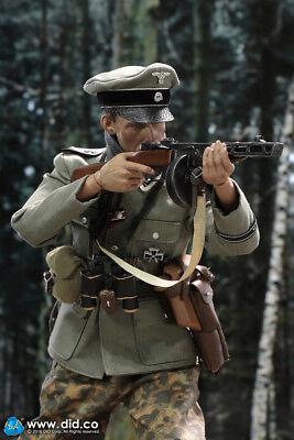 """DID D80132 1//6 German Panzer-Division Das Reich NCO Fredro Headsculpt 12/"""" Figure"""