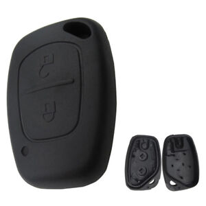 JN_ 2 Button Remote Car Key Shell Case Cover No Blade for Renault Master Vivar