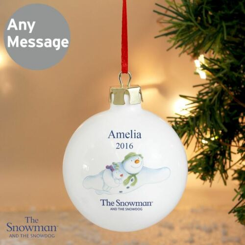 The Snowman and the Snowdog Personalised Bauble Name /& Year Christmas Gift