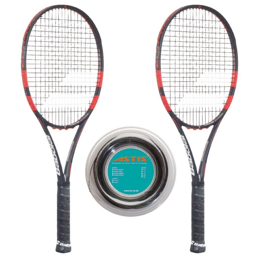 Babolat Pure Strike 100 16x19 x 2 + Rolle - Griff L0