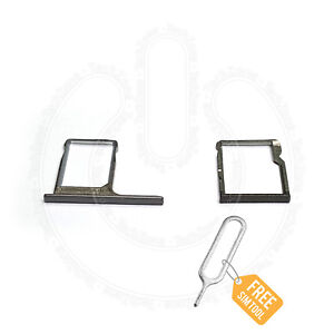 For-HTC-ONE-M8-SIM-Card-Holder-Tray-amp-SD-Memory-Card-Holder-Tray-Slot-Reader