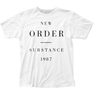 New-Order-Substance-1987-T-Shirt-Mens-Licensed-Rock-N-Roll-Band-Retro-Tee-White