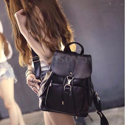 Women Lady Backpack Travel Leather Handbag Rucksack Shoulder Bag School Bookbag