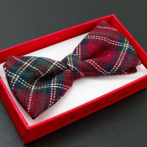Boy/'s Straigt Cut Solid Pre-tied Bow tie Kid/'s Bowtie Wedding Party Formal