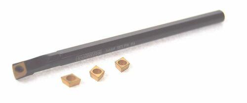 Miniature Glanze CCMT SELPR Tour petit outil d/'alésage avec 4 inserts 790550