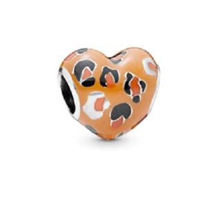 NEW Lion King 2 Simba Leopard Jungle Print Heart European Charm Bracelet Bead