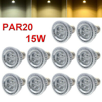 High Power PAR20 15W LED Dimmable Indoor Flood Light Bulb Lamp 85-265v