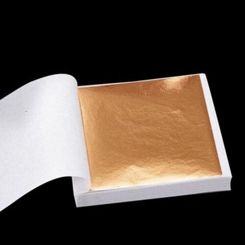 Pour Dorure Art Craft Décoration À faire soi-même 9*9 cm or 100Pcs//Argent//Cuivre Feuille Feuille Papier