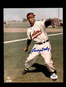 Larry Doby PSA DNA Coa Hand Signed 8x10 Indians Photo Autograph