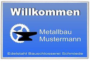Firmen Fussmatte Selbst Gestalten Fur Metallbau Ebay