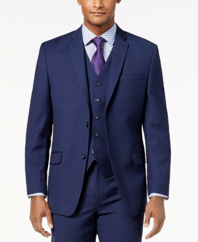 $350 MARC NEW YORK 40L Men/'s Blue Modern Fit Neat Sport BLAZER SUIT COAT JACKET