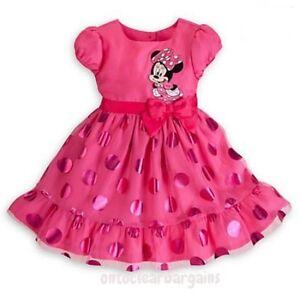 Details About New Girls Dress Minnie Mouse Pink Princess Dress Party Dress Fancy Dress Summer