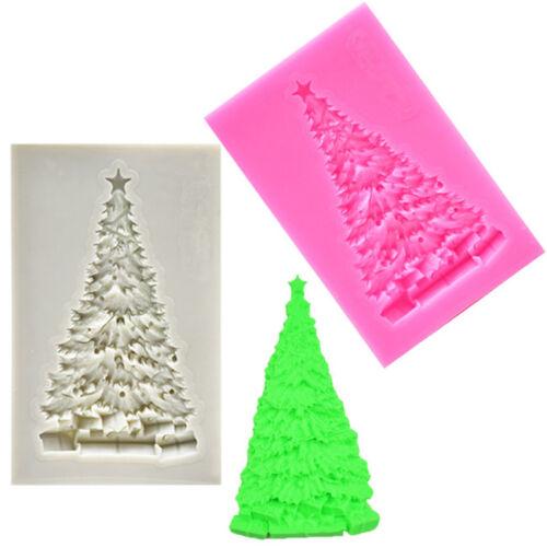 Christmas Tree Silicone Mold Fondant Chocolate Mould Xmas Decor Baking Tool LD