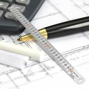 Rostfrei-Stahlmassstab-Stahllineal-Werkstattlineal-Stahl-Lineal-cm-inch-300mm