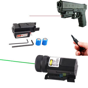 Mini-Red-Green-Laser-Sight-Scope-w-Picatinny-Rail-Switch-for-Rifle-Pistol