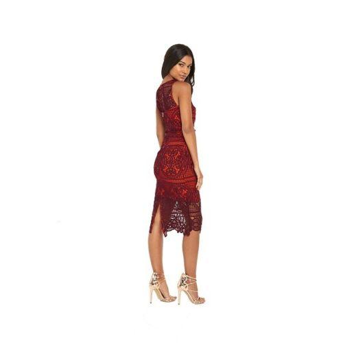 Größe CHF 10 265 Island Berry Figurbetontes Spitzendetails Bleistiftkleid River 1pUgtxwp