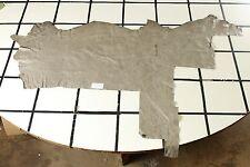 "Beautiful ""Zanzibar"" Gray Marble Scrap Leather Hide Approx. 11 sqft L40A10-7"