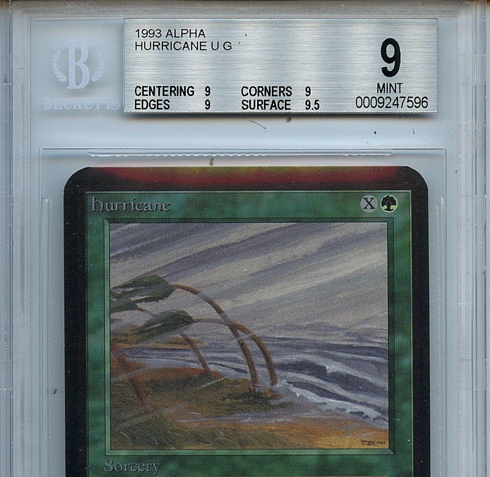 MTG Alpha Hurricane BGS 9.0 (9) Mint Magic The The The Gathering Card 7596 Amricons 4c0c1d