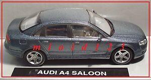 1-43-AUDI-A4-Grigio-Scuro-Metallizato-Die-cast-NewRay