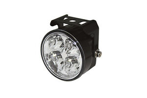 LED-Tagfahrlicht-DRL-rund-im-Alugehaeuse-fuer-Motorrad-Zusatz-Scheinwerfer
