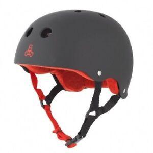 Triple Eight Brainsaver Rubber Helmet Sweatsaver Liner Flat Black Red Roller 8