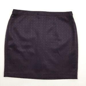 Womens-Banana-Republic-Pencil-Skirt-Layered-Cutout-Plum-size-14