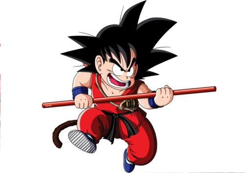 Home Decor Sticker Poster Manga Dragon Ball Z Sangoku Enfant Son Goku Baton Magic Format A4 Home Garden
