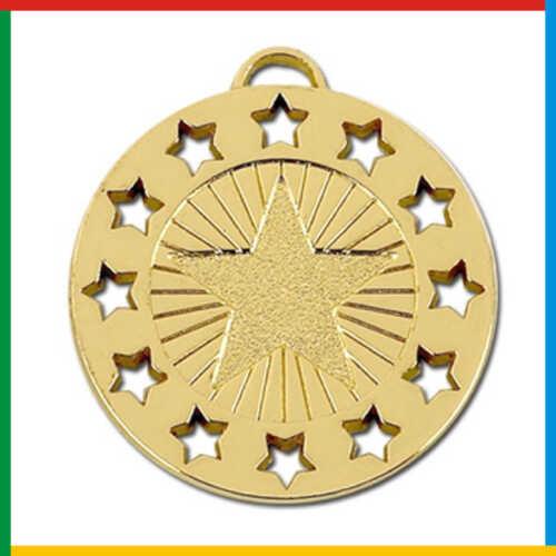 AM862 AM862 STAR MEDAL Achievement Multi School Award *FREE 60p RIBBON Included*