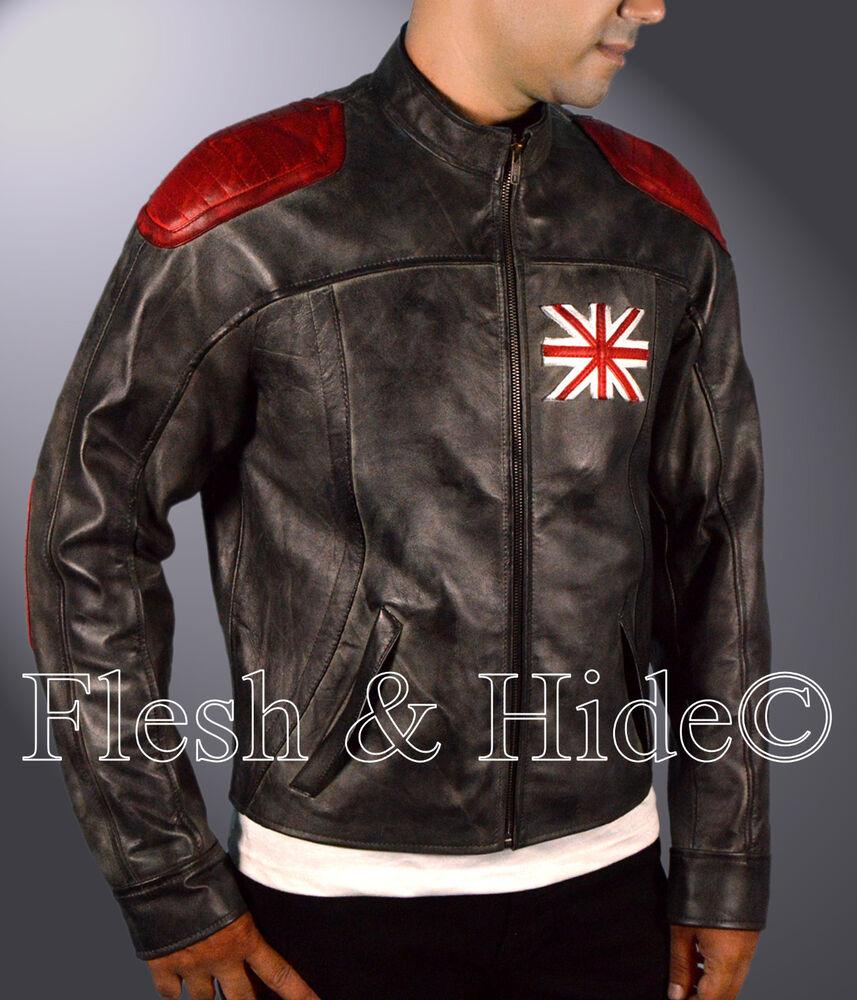 Analytique Kid's Genuine Cowhide Leather Killing Floor 2 M. Foster Dosh Cafe Racer Jacket Pour AméLiorer La Circulation Sanguine