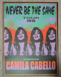 Rare Camila Cabello Never Be The Same 2018 Tour 18x24 Poster Ebay