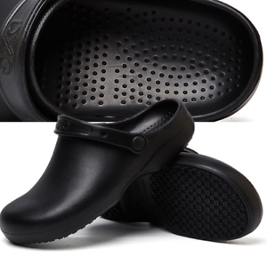 Non-slip chef shoes for men women kitchen safety shoes wear ... b915b8dab1