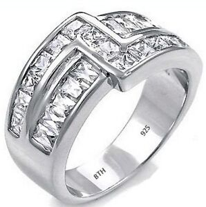 925-Sterling-Silver-Mens-Luxury-Created-Diamonds-Wedding-Engagement-Band-Ring